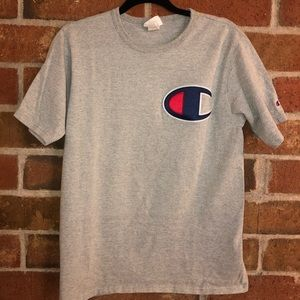 Vintage Champion T-shirt w/ embroidery.